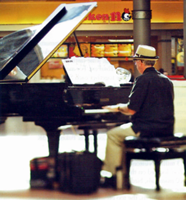 Patrick Byrne, Pat, Mayfair Mall, Piano Player