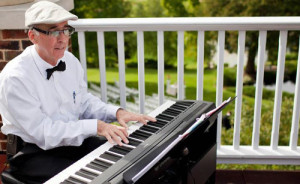 Patrick Byrne, piano, wedding gig, Big Foot Country Club, Fontana, Wisconsin