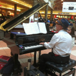 Patrick Byrne, piano, mall Mayfair Mall, Wauwatosa, Wisconsin