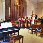 Patrick Byrne, piano, wedding gig, St, Henry Church, Watertown, Wisconsin