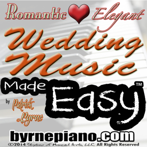 Patrick Byrne, piano, weddings, podcast, wedding music made easy